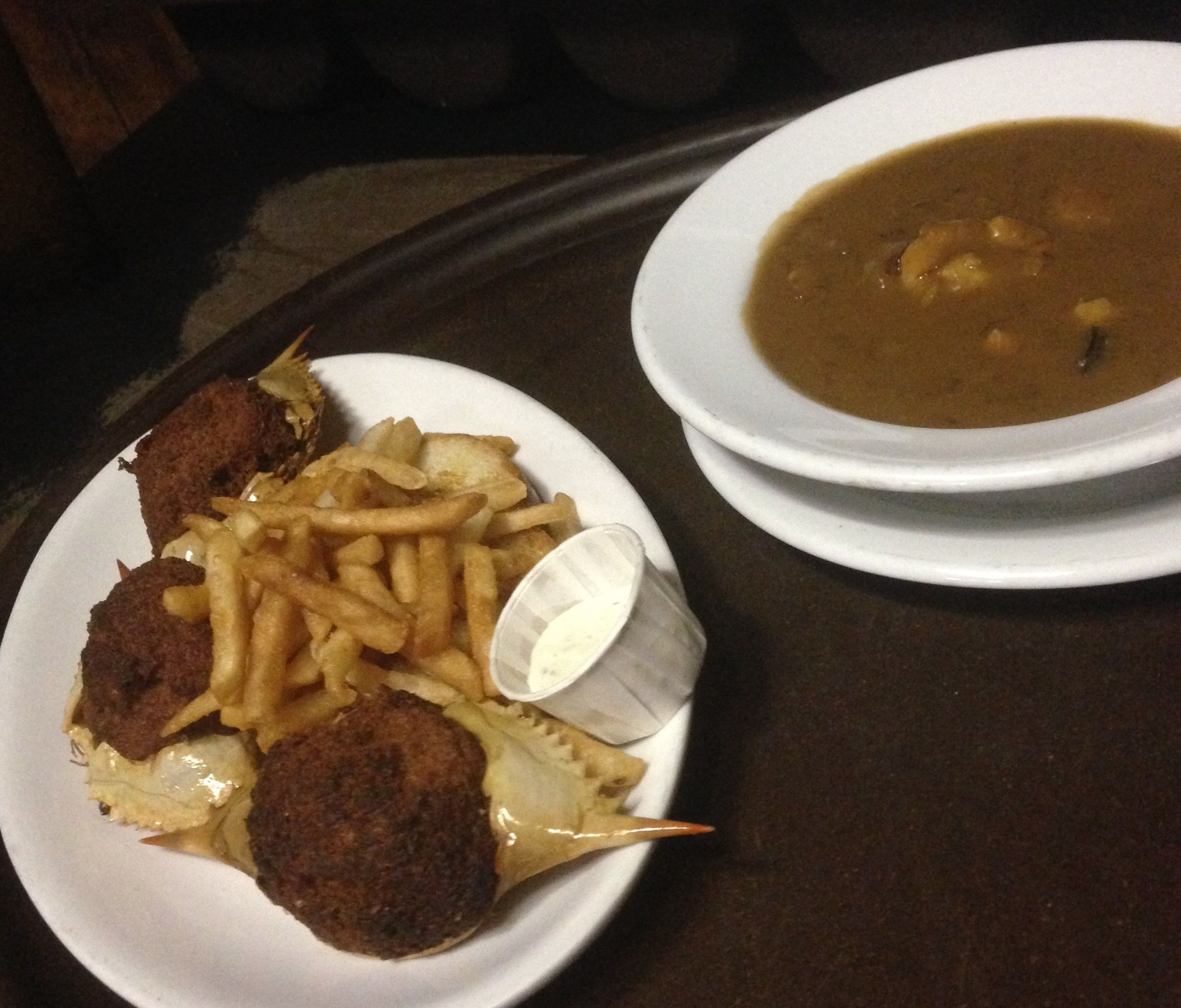 Stuffed Crab And Gumbo From Mohawk Tavern In Monroe La Is Simply