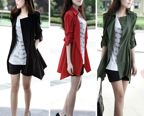 $19 for a Casual Autumn Jacket in Red, Black or Green