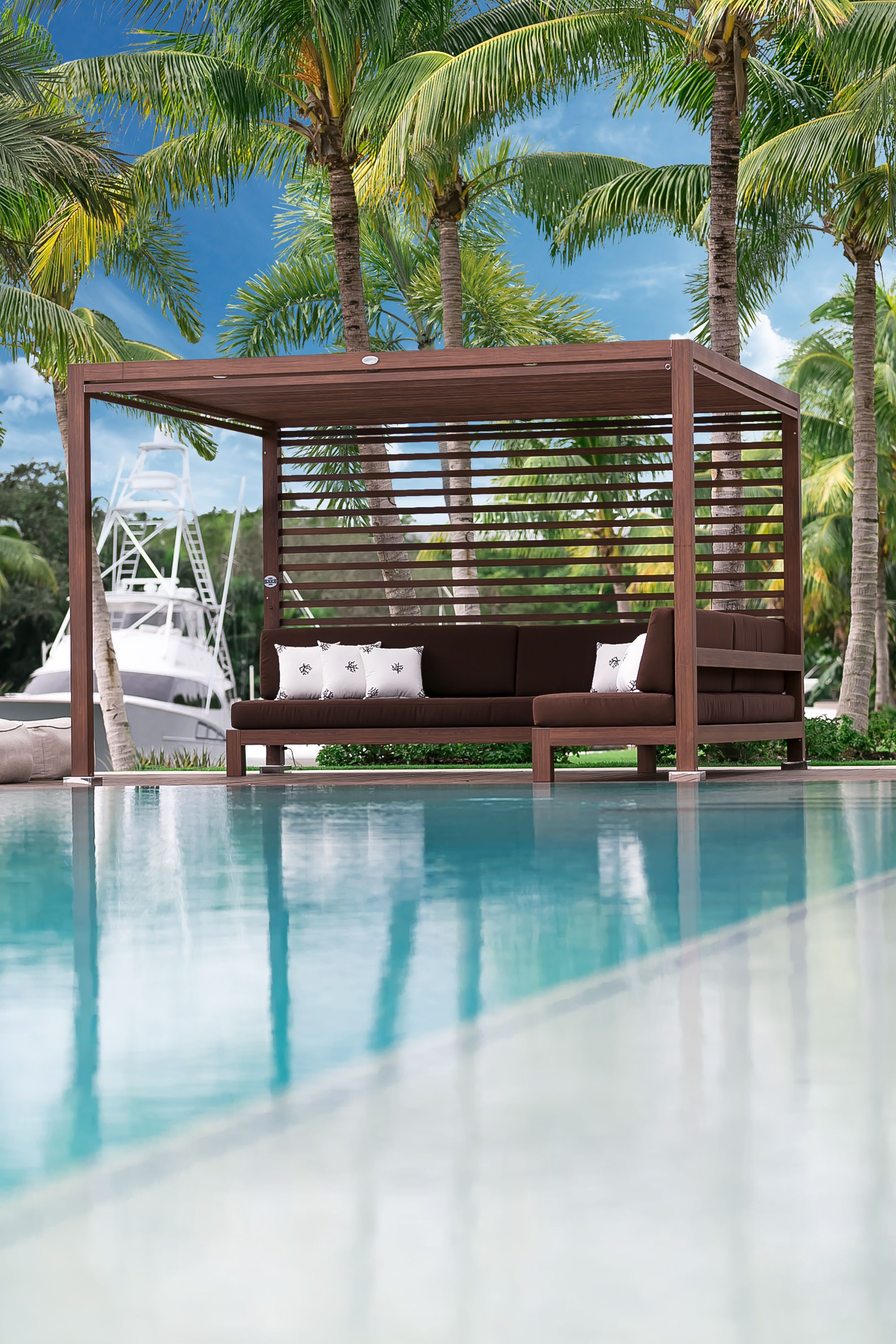 Transform any outdoor space into a sleek, sophisticated gathering place  with Equinox Cabana structures.