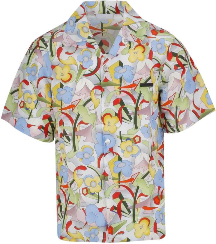 05d39178 Prada Abstract Floral Shirt in 2019   Products   Shirts, Prada ...