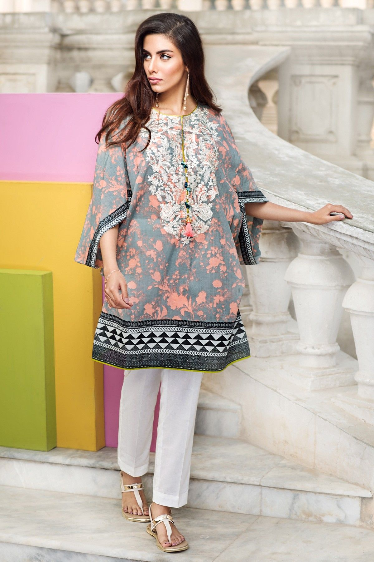 0fa0572ced Embroidered- khaadi Latest Summer Lawn Dresses Collection 2017-2018 (15)