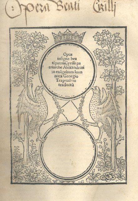 Book Opus Insigne Beati Patris Cyrilliimage Date Ca 1520 Silesian Collection Item 2008 35 02 Latin Silesian Vintage World Maps Heritage Heritage Center