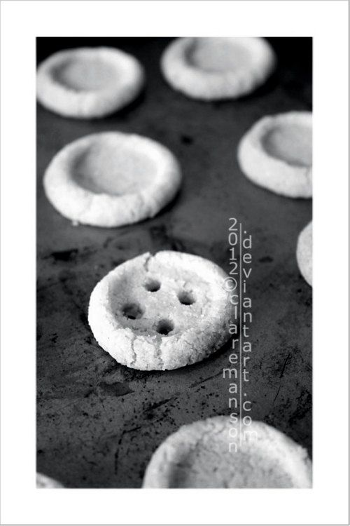 4 x 6 Button Cookies photo print blue tinted by claremanson, £3.99