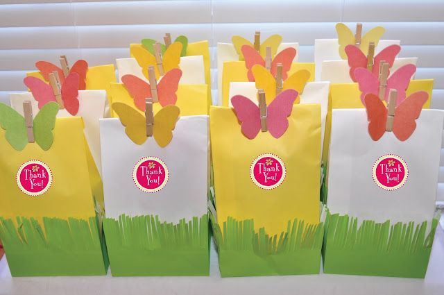 guests left with these garden party favors. beautiful ideas. Home Design Ideas