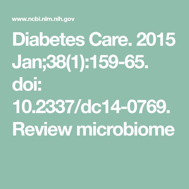 Diabetes Care 2015 Jan 38 1 159 65 Doi 10 2337 Dc14 0769