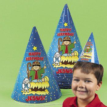Happy Birthday Jesus Party Hats