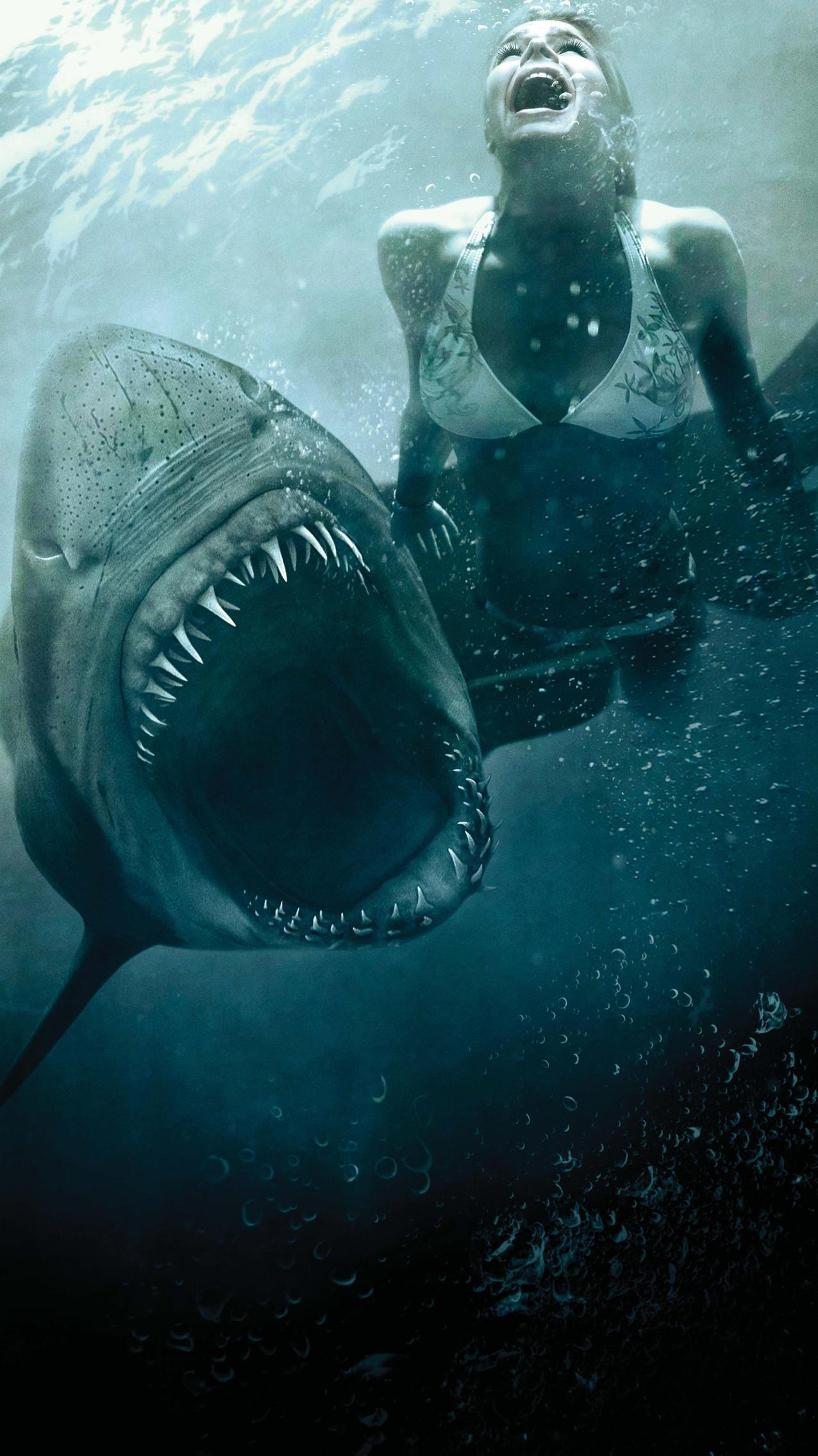 Shark Night 3d 2011 Phone Wallpaper In 2020 Sharks Scary Shark Pictures Shark