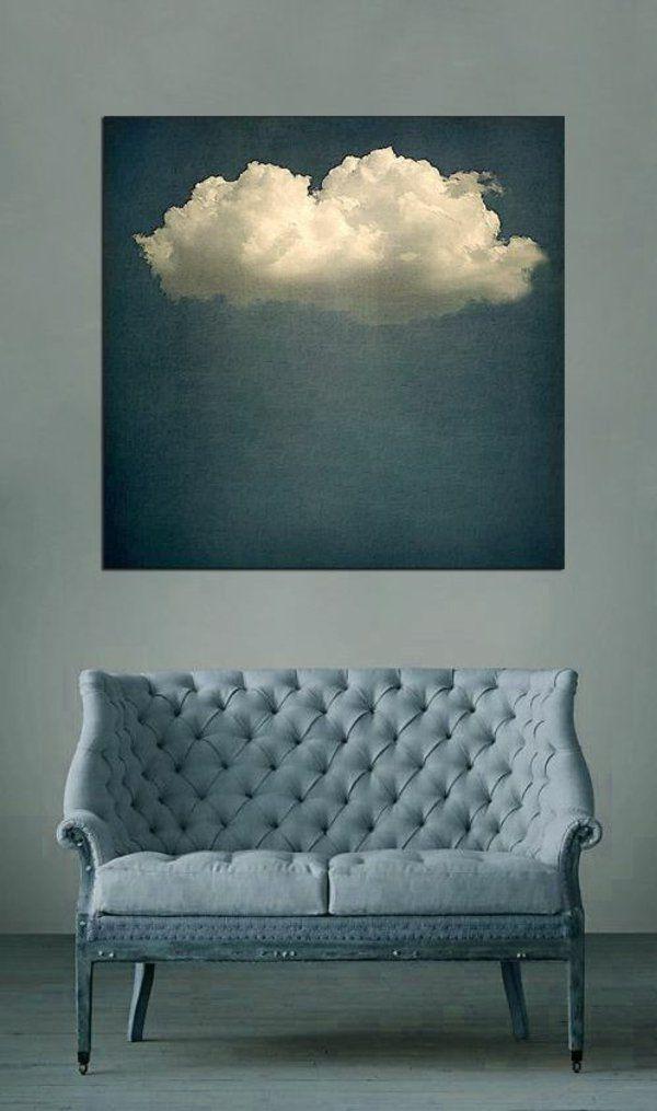 wandfarbe wände gestalten couch wolke gemälde | home | pinterest ... - Wohnzimmer In Petrol Gestalten