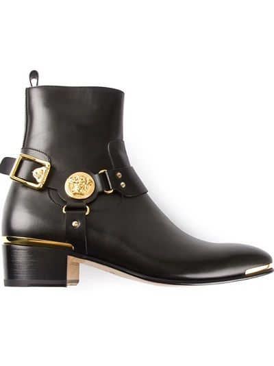 0b30efe498a2 VERSACE  Medusa  Western Boots   Dress your man in 2019   Boots ...