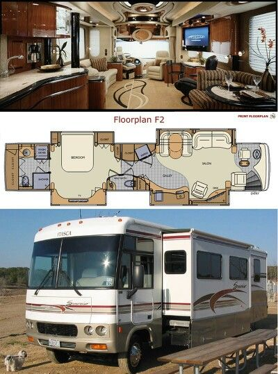 Inside Of A Nice RV