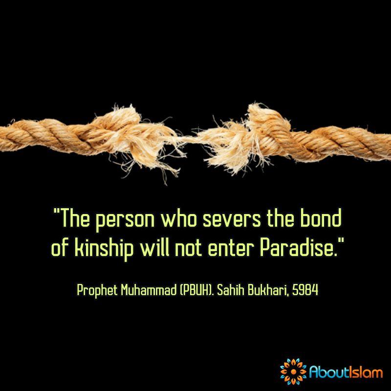 reminder never break ties kin islam family faith islam