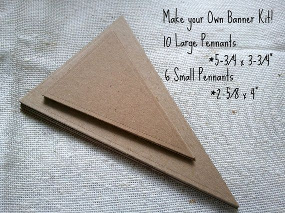 Do it yourself pennant banner kit weddings birthdays parties home do it yourself pennant banner kit weddings birthdays parties home decor on etsy solutioingenieria Image collections