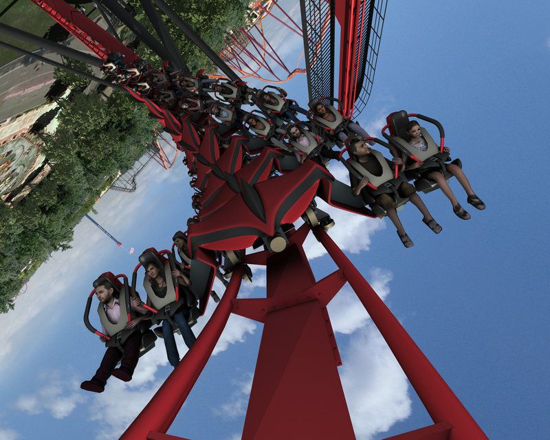 Six Flags Great America X Flight Great America Best Roller Coasters New Roller Coaster