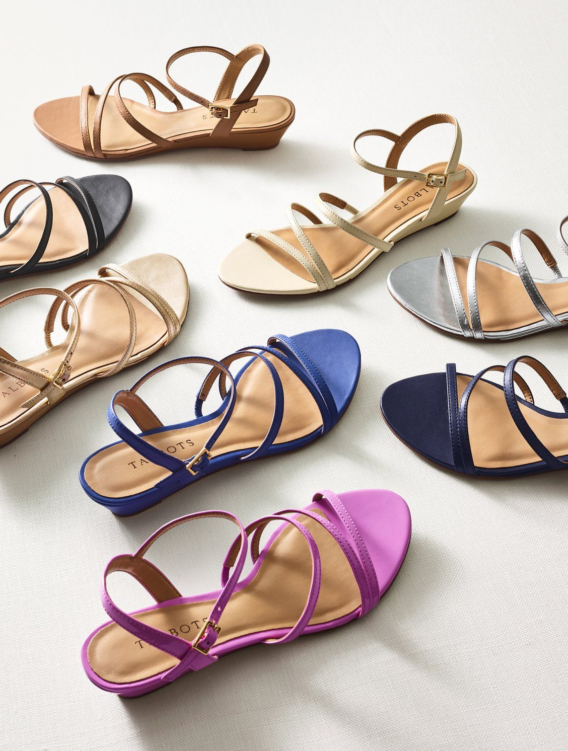 6669f98616f The easy comfort of a wedge is met with the elegance of a strappy sandal.  This versatile sandal can be worn with dresses or casually with jeans