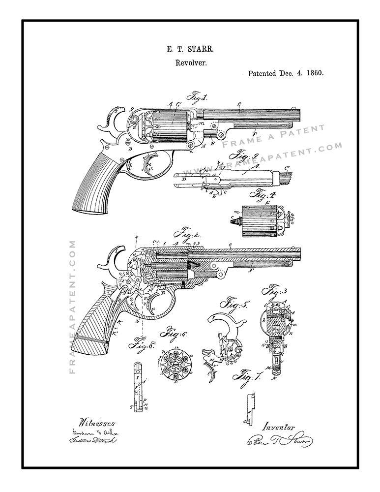 Revolver Patent Print
