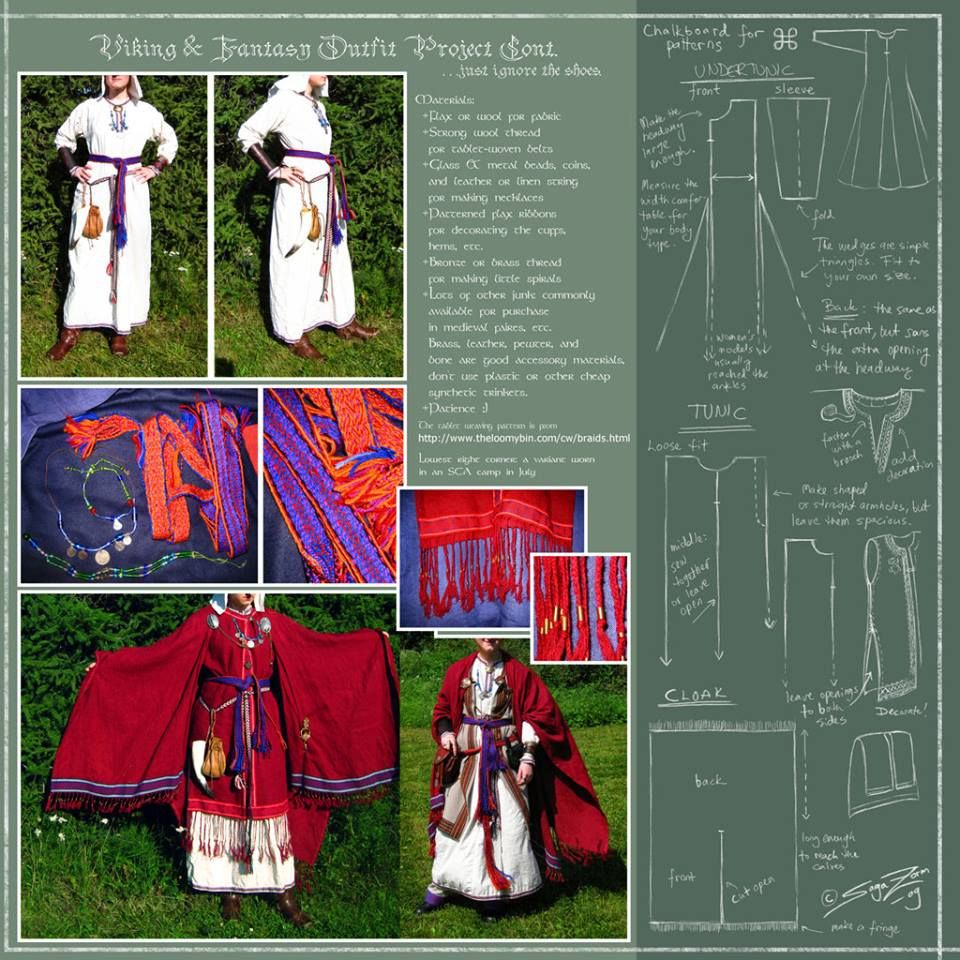 Patron Pour Un Costume Viking Complet Vetements Viking Costume Viking Broderie Viking