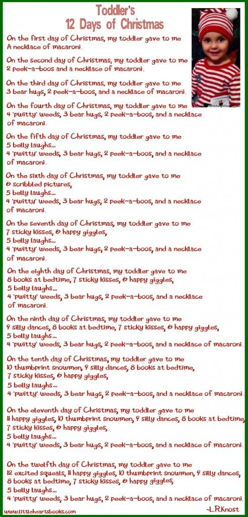 The First Day Of Christmas Lyrics.Toddler S 12 Days Of Christmas On The First Day Of