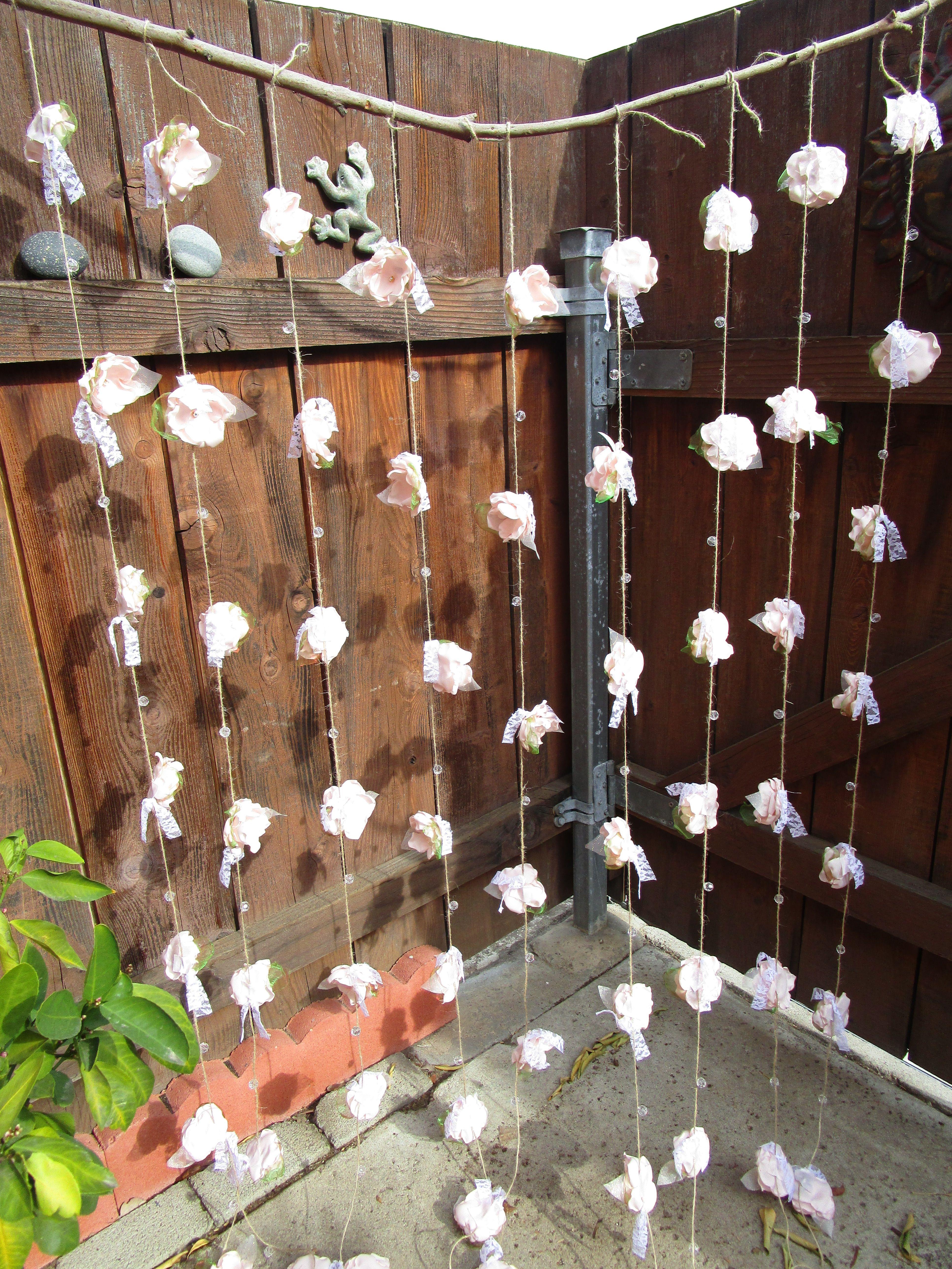 Fabric flower garland Rustic Wedding garland Backdrop