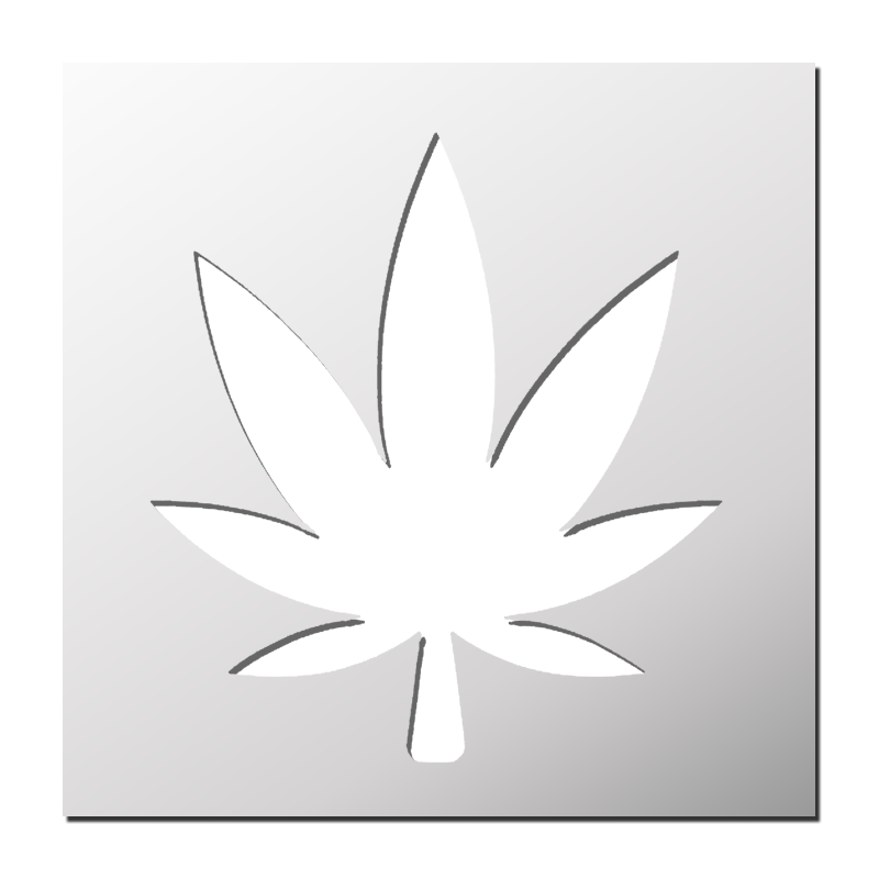 Pochoir feuille de cannabis boutique pochoirs stickers pinterest pochoir feuille de - Feuille cannabis dessin ...