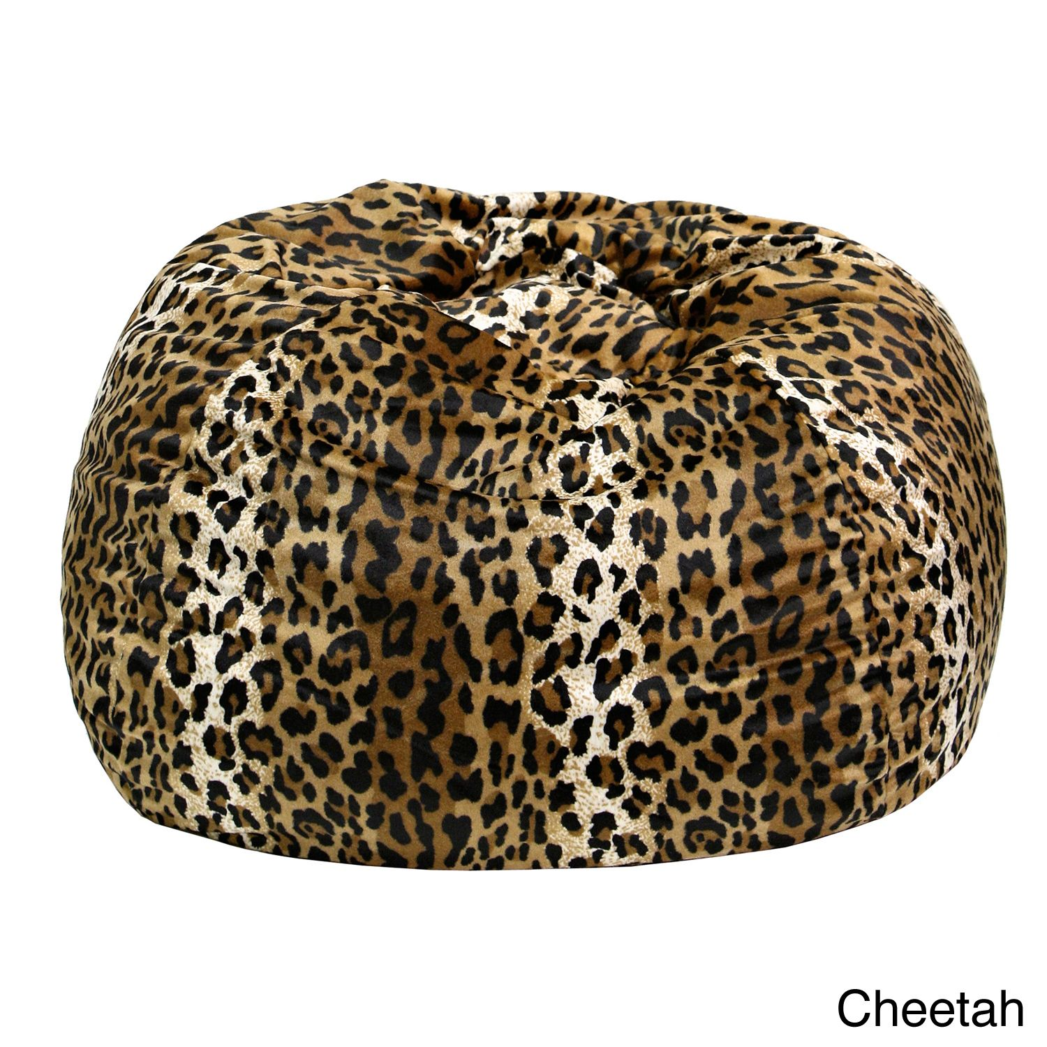 Cheetah Print Bean Bag Chair Custom High Covers Gold Medal Child Size Animal Black Medium Suede