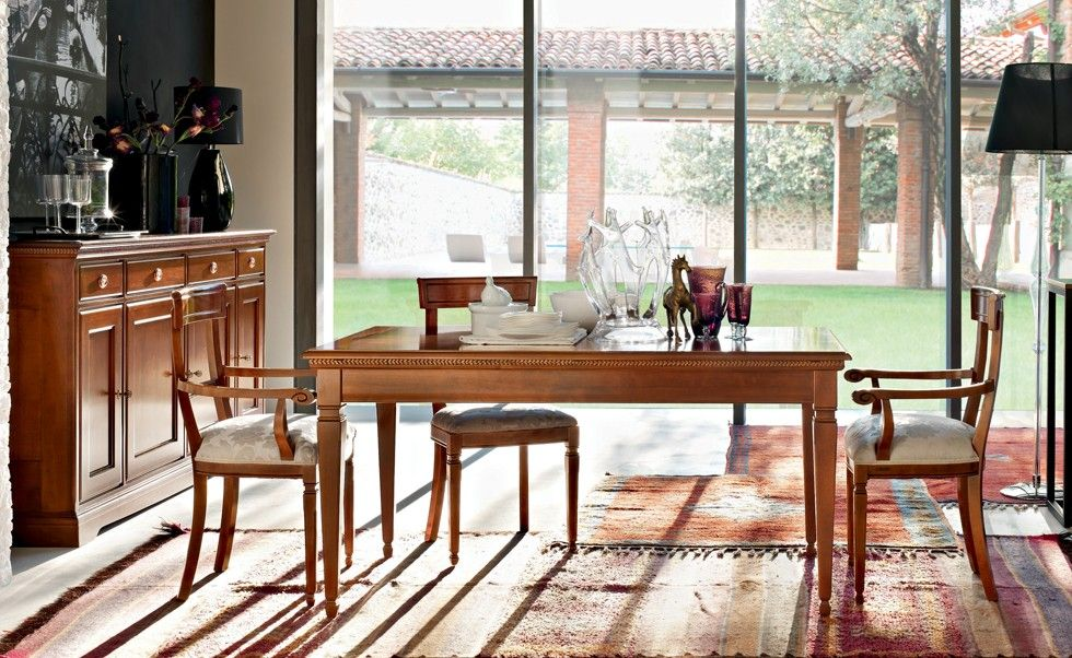 Elegant Tulipano   I Ciliegi | Classic Collections Le Fablier | Rectangular  Extendable Table | Measures In