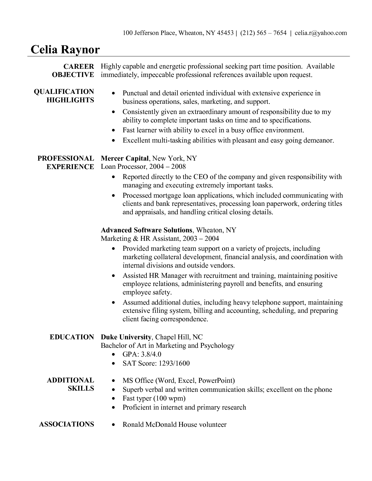 Resume Sample For Administrative Assistant Resume Samples For