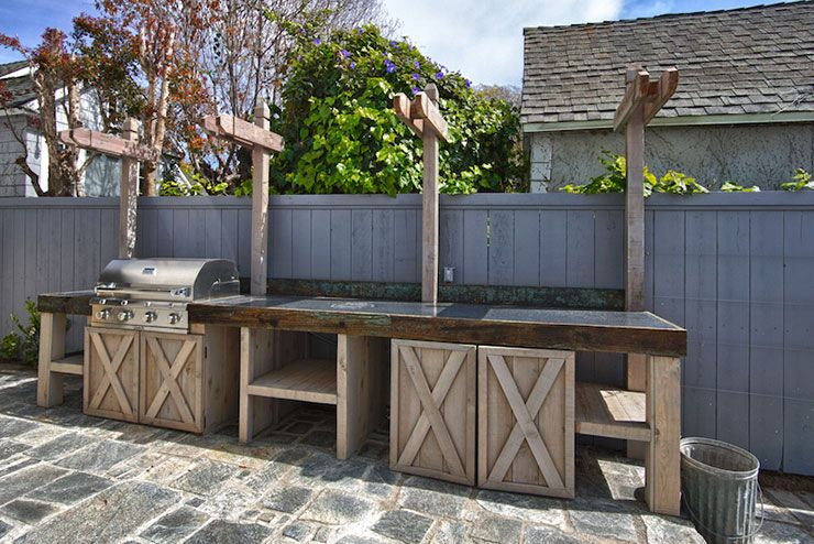 Reclaimed Wood Hardscape And Landscape In San Diego French