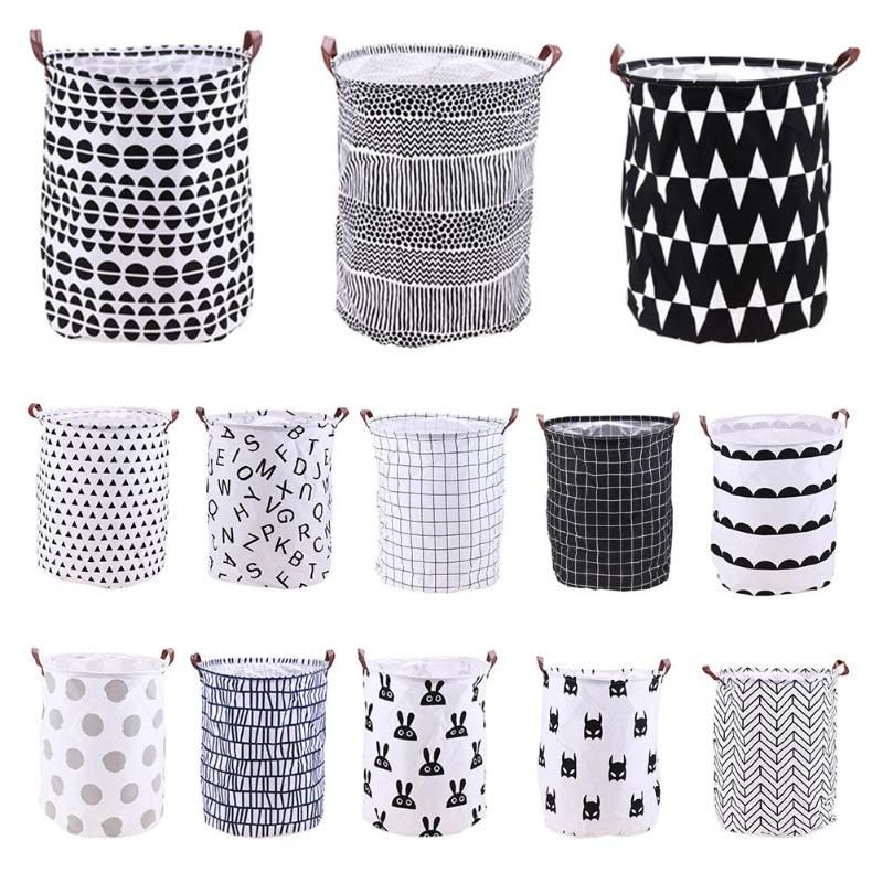 Folding Laundry Basket Cartoon Storage Barrel Standing Toys Clothing Storage Bucket Laundry Org Cesto De Roupa Suja Cesta De Lavanderia Armazenamento De Roupas