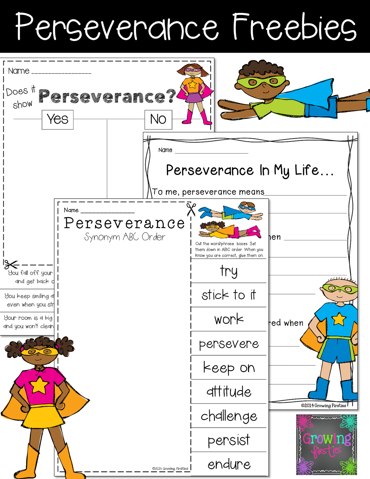 Uncategorized Superhero Printable Activities perseverance superheroes cape and what s character education printables freebies