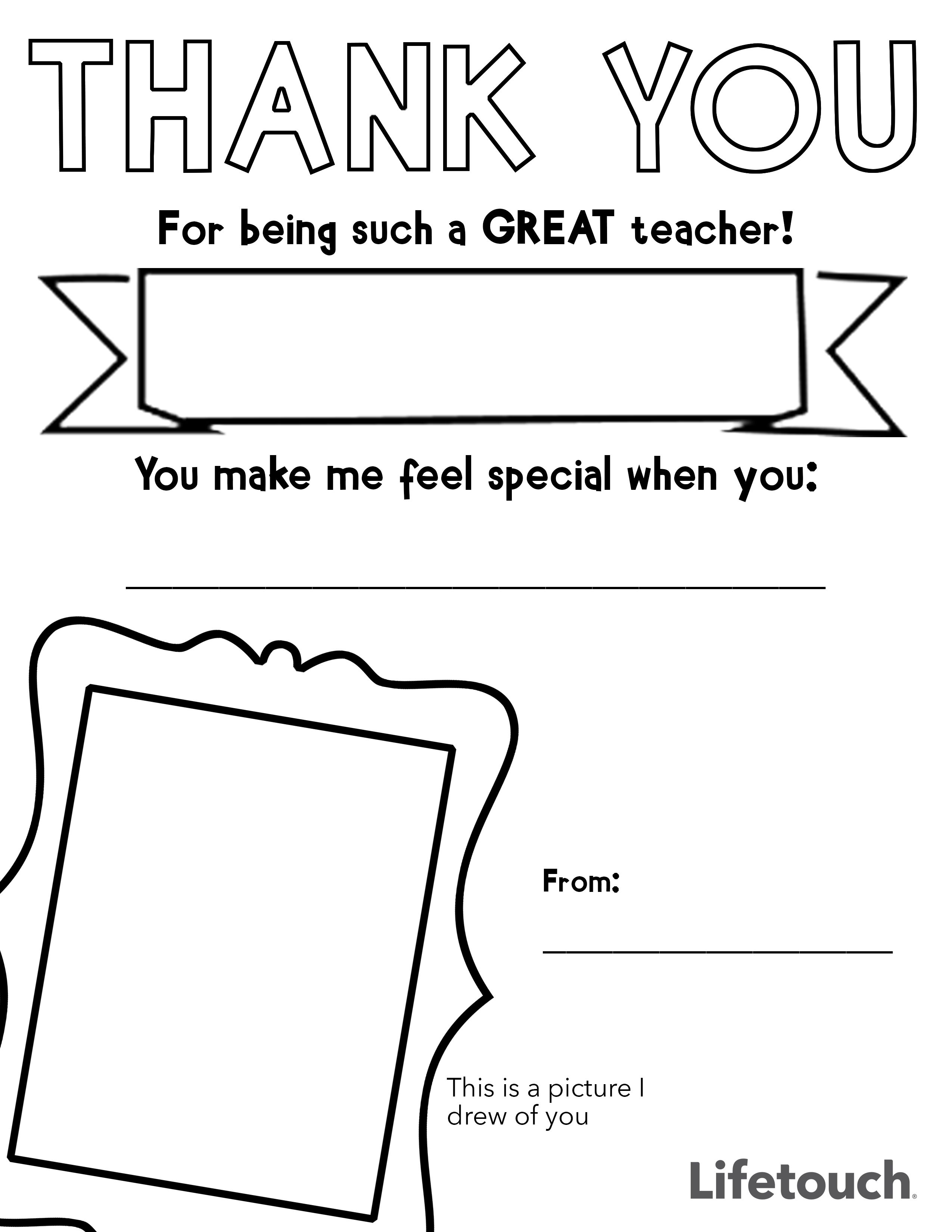 Have Your Kiddos Tell Their Teachers Just How Much They
