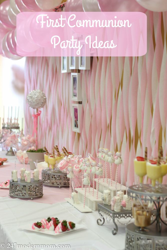 First Communion Party Ideas Beautification Tips Mary