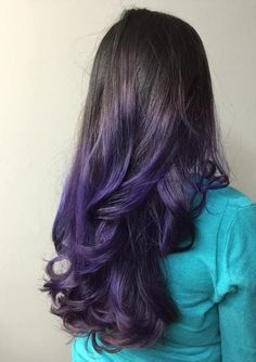 Image Result For Dark Brown Hair With Purple Lowlights Purple Ombre Hair Black Hair Ombre Purple Hair Color Ombre