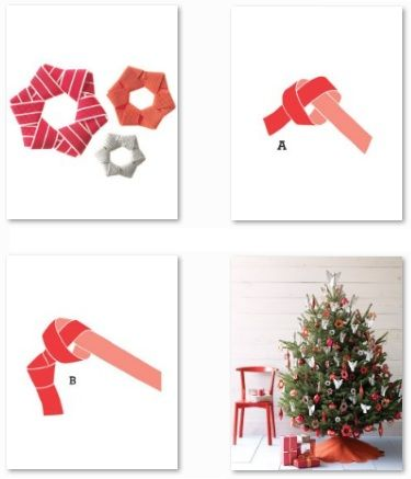 Estrella arbol cinta manualidades para navidad navidad for Adornos navidenos origami paso a paso