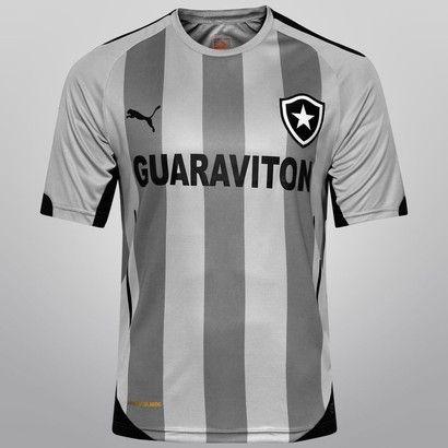 Camisa Puma Botafogo IV 2014 s nº - Cinza+Preto  d99c76c5e5b26