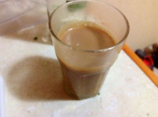 Delicious chai latte with peanut butter, easy to make and tastes amazing.