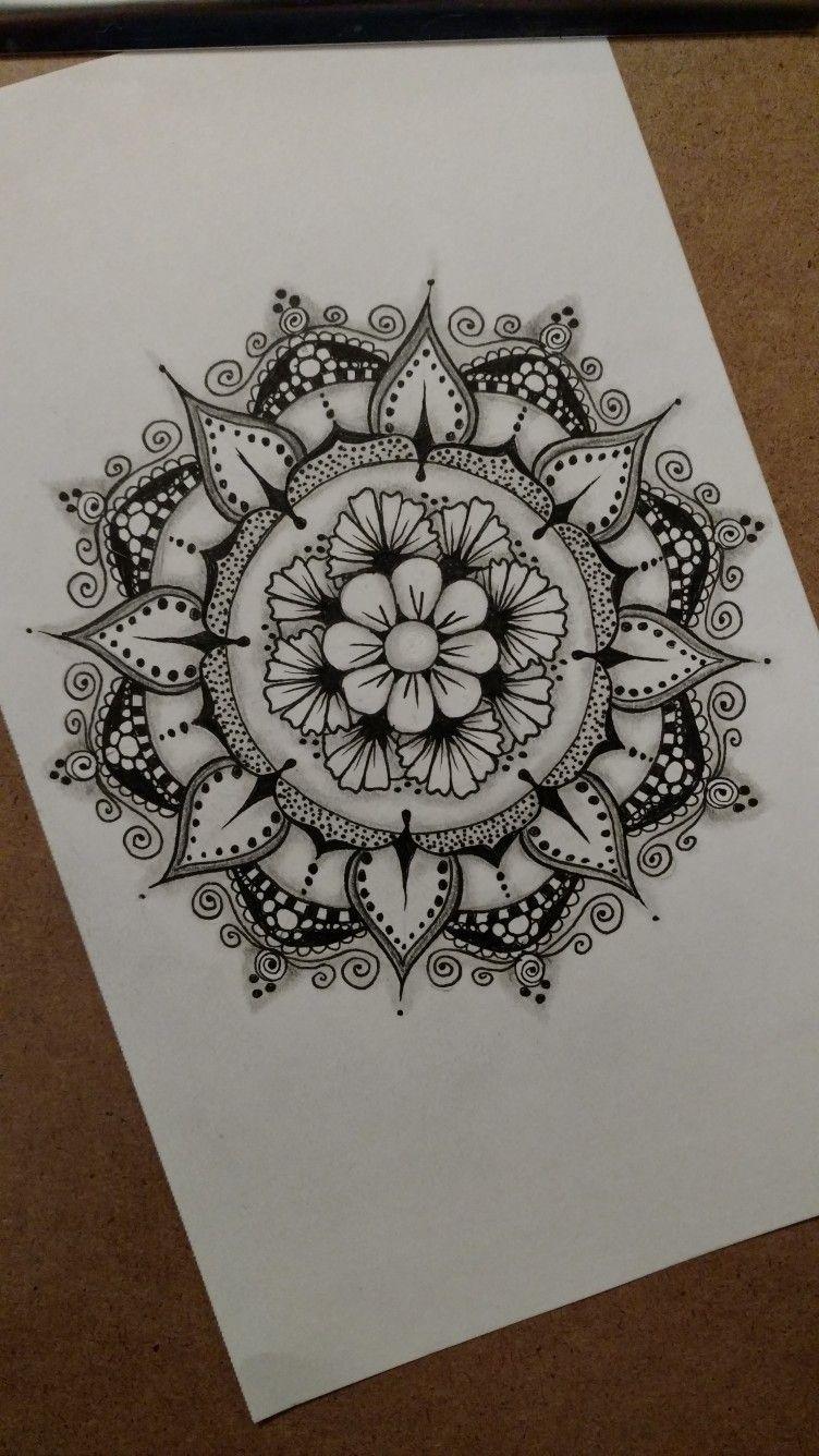 7 30 17 Zentangle Art By Kathleen Wells In 2019 Mandala Tattoo