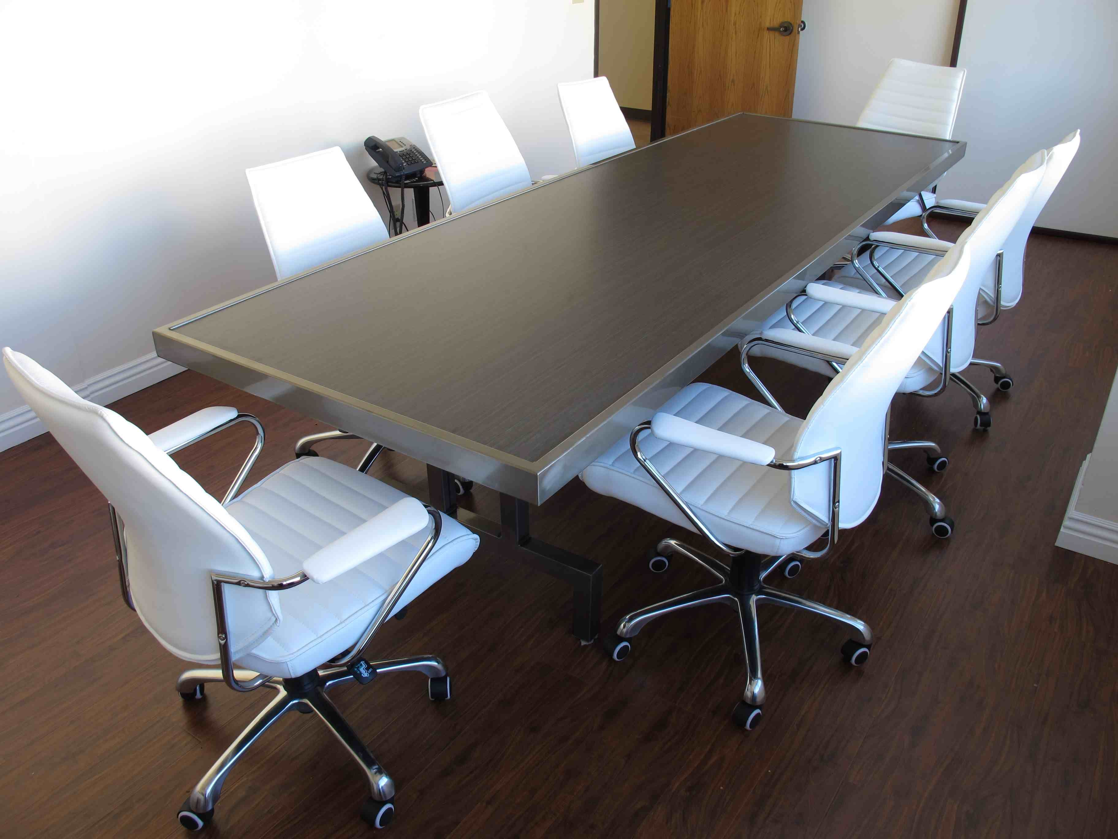 Conference Table Welded Clear Coated Raw Steel With Embedded Asian - Detachable conference table
