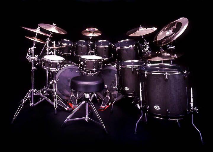 Black Drum Set Image Music Wallpaper
