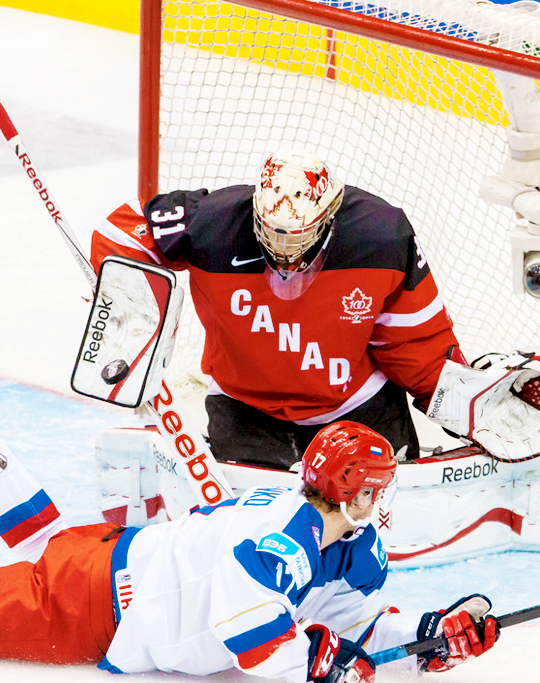 Zachary Fucale, 2015 IIHF WJC gold medal game.