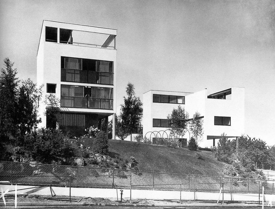 1927 third version of maison citrohan weissenhof for Villas weissenhofsiedlung