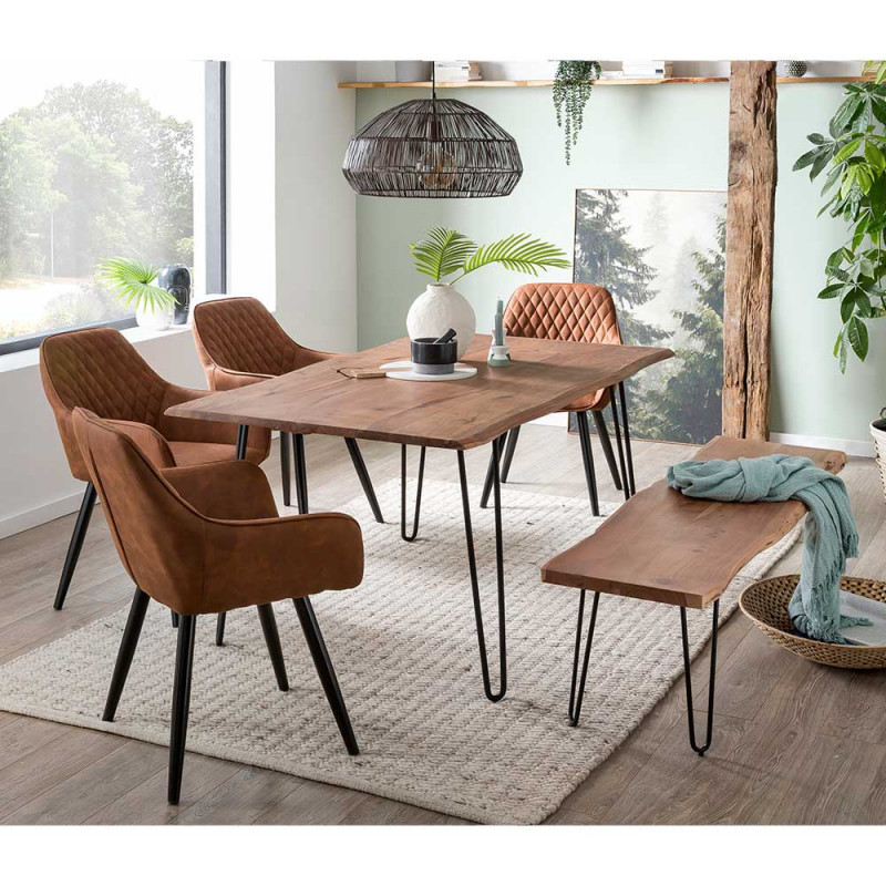 Esstisch Mit Stühlen Und Bank