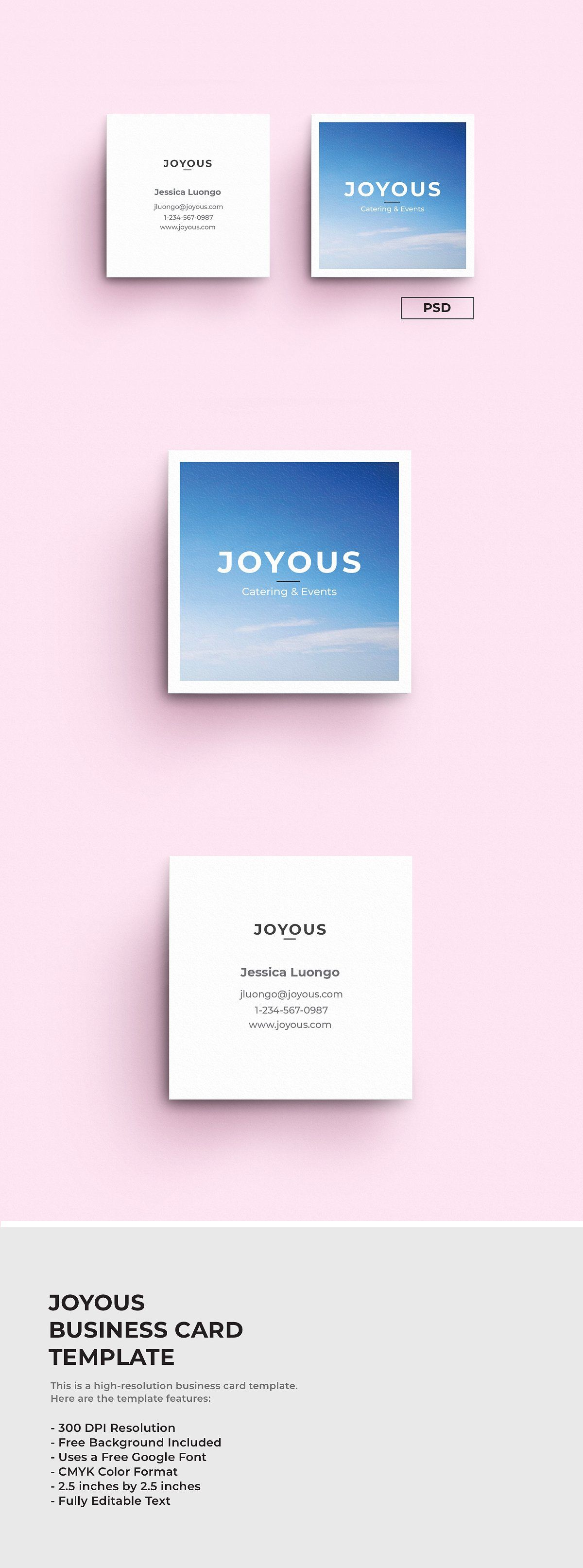 Joyous Business Card Template Business Card Template Business Card Template Design Business Cards Creative Templates