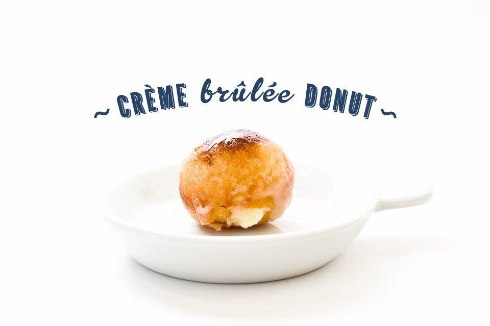 A mini creme brulee doughnut recipe inspired by Doughnut Plant