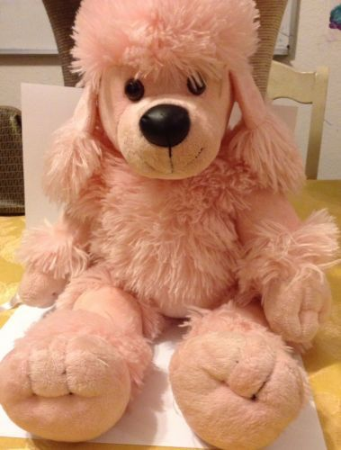 Build A Bear Retired Pretty Poodle Plush Pink White French Dog 20