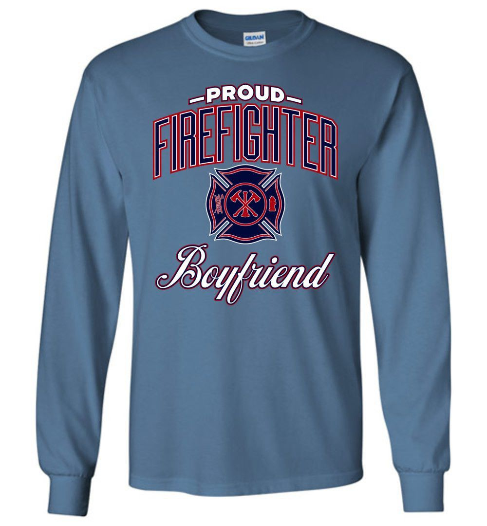 Proud Firefighter Boyfriend Long-Sleeve T-Shirt