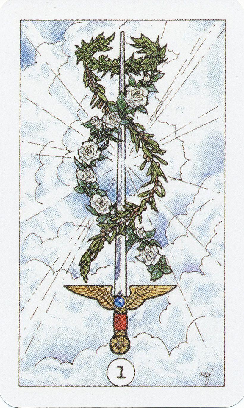 Ace Of Swords Robin Wood Raider Waite Tarot Ace Of Swords Tattoo Illustration Sword Tattoo