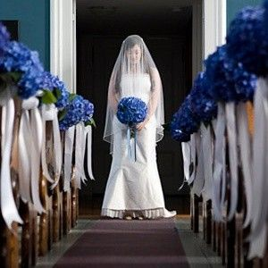 Blauwe decoratie kerk trouw pinterest kerk decoratie en bruiloft - Blauwe turquoise decoratie ...