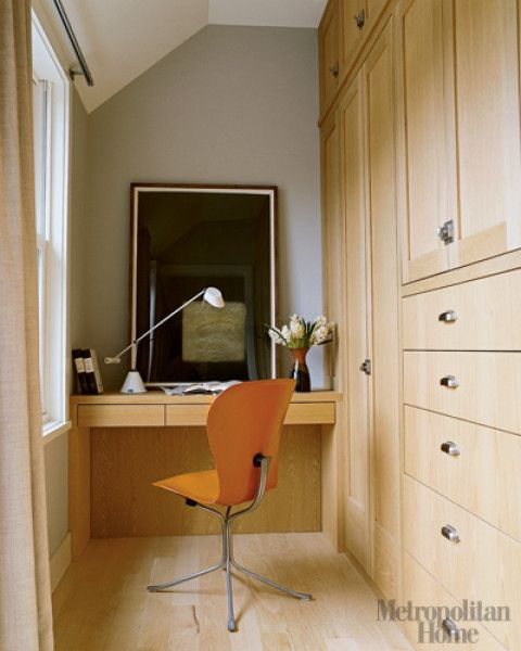 Very Small Home Office Design Ideas: Built In Office For A Very Small Space