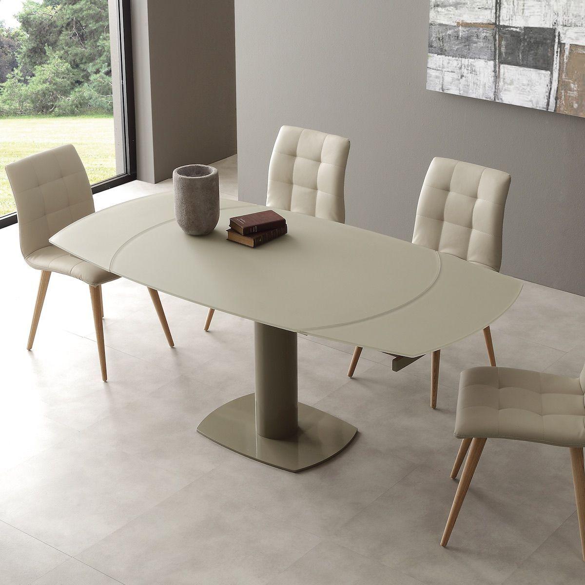 Tavolo Allungabile Malachi Design Moderno Vetro 10 Mm Malachi E Il Tavolo Ovale Che Con Il Suo Sistema Tecnologi Tavolo Allungabile Design Moderno Coprisedia