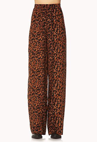 Wild Leopard Wide-Leg Pants | FOREVER 21 - 2000129095